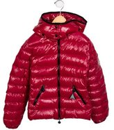 Moncler Girls' Down Hooded Jacket