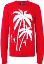 No.21 palm tree intarsia jumper - men - Cotton - 50
