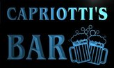 AdvPro Name w024226-b CAPRIOTTI Name Home Bar Pub Beer Mugs Cheers Neon Light Sign
