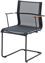 Houseology Gloster Sway Stacking Chair with Arms - Meteor - Grey