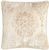 "Jane Wilner Designs Aristocrat Velvet Damask Pillow, 20""Sq."