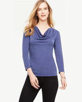 Ann Taylor Draped Cowl Neck Top