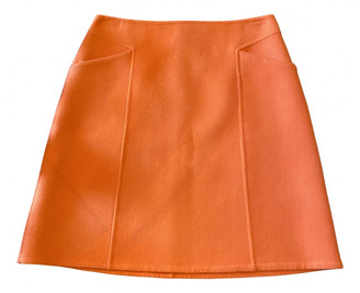 Bottega Veneta Orange Cashmere Skirts