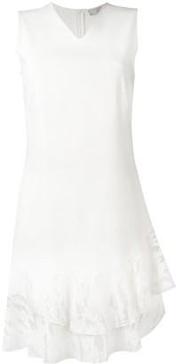 D-Exterior Frill-Trim Shift Dress