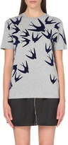 McQ by Alexander McQueen Swallow-motif cotton-jersey t-shirt