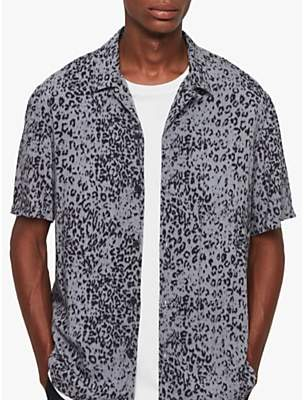 AllSaints Patch Leopard Print Shirt