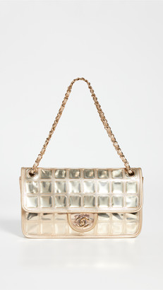 What Goes Around Comes Around Chanel Gold Ice Cube Half Flap Bag