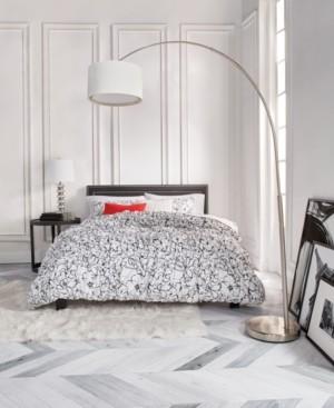 Karl Lagerfeld Paris Poppies 3 Piece Comforter Set, King Bedding