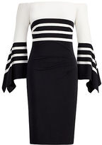 Ralph Lauren Striped Off-the-Shoulder Dress