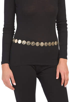 Made In Italy Gold Plated Chain Belt