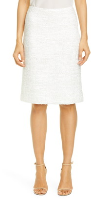 St. John Ribbon Couture Float Knit Skirt