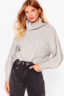 Nasty Gal Womens What's Knit Gonna Be Turtleneck Jumper - Black - S