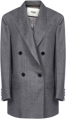 Fendi Double-Breasted Buttoned Blazer