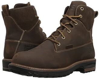 Timberland Hightower 6 Alloy Safety Toe Waterproof (Kaffe Full Grain Leather) Women's Work Lace-up Boots