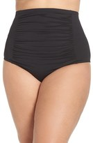 Plus Size Women's Becca Etc. Color Code High Waist Bikini Bottoms