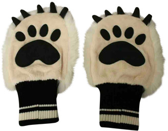 Dolce & Gabbana White Synthetic Gloves