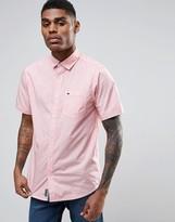 Tokyo Laundry Cotton Yarn Dye Shirt with Short Sleeve
