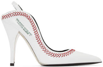 Calvin Klein White Jackie Baseball Heels