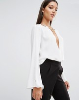 Wrap Front Blouse - ShopStyle