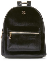Christian Lacroix Black Isabelle Mini Velvet Backpack