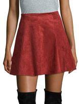 BB Dakota Faux Suede Mini Skirt