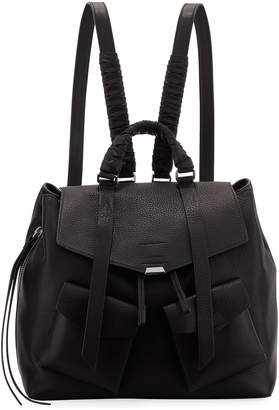 AllSaints Shirley Leather Flap Backpack