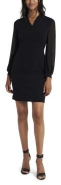 Vince Camuto Women's Sparkle Jersey Chiffon Dress