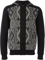 Christian Pellizzari patterned zipped hoodie