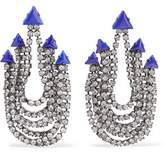 Elizabeth Cole Raakel Gunmetal-Tone Stone And Crystal Earrings