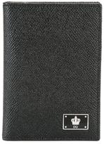 Dolce & Gabbana crown logo plaque wallet - men - Calf Leather - One Size