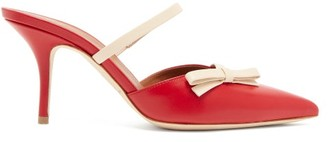 Malone Souliers Jenna Bow-applique Leather Mules - Womens - Red