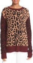 A.L.C. Women's Matt Leopard Wool & Cashmere Sweater