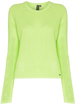 Sweaty Betty Idol open-knit jumper