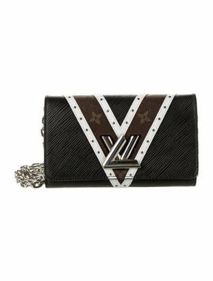 Louis Vuitton 2018 Epi Twist Chain Wallet Black