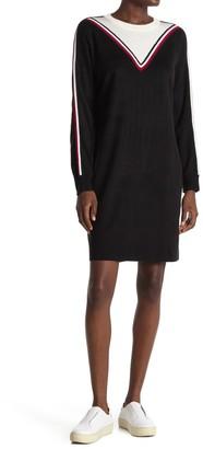 Tommy Hilfiger Chevron Long Sleeve Sweater Dress