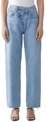 A Gold E AGOLDE Suburbia Criss-Cross High-Rise Jeans