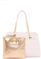 Betsey Johnson Bow Shopper & Pouch