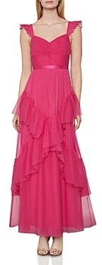 BCBGMAXAZRIA Rulled Tulle Gown