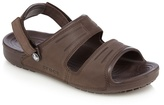 Crocs Brown Suede Two Strap Slip-on Sandals