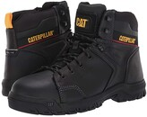 Caterpillar Wellspring Waterproof Metatarsal Guard Steel Toe (Black Full Grain Leather) Men's Work Boots