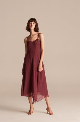 Rebecca Taylor Polished Dot Embroidery Tank Dress
