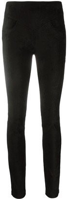 8pm Faux-Suede Skinny Trousers