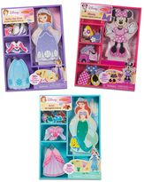 Melissa & Doug Disney's Minnie Mouse, Sofia & Ariel Magnetic Dress Up Bundle by