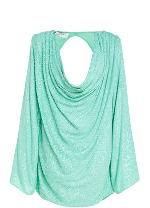 NERVI Carol Draped Printed Stretch-Jersey Mini Dress