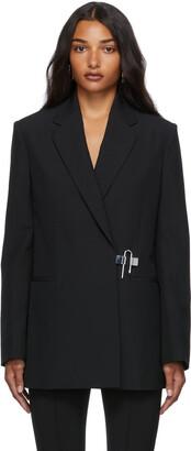 Givenchy Black Structured Padlock Blazer