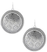 Jessica Simpson Topic of Coin Moroccan Tile Large Disc Earrings