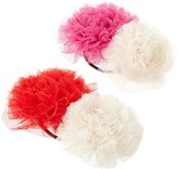 Peppercorn Kids Flower Hair Tie Set (Toddler/Kid) - Red/Hot Pink - One Size