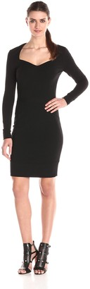 Nicole Miller Women's Structured Heavy Jersey Dress