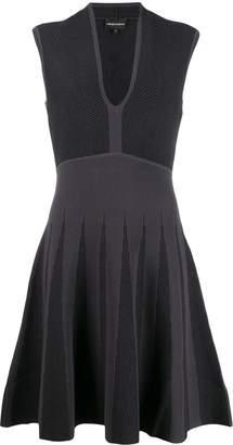 Emporio Armani two tone sleeveless dress