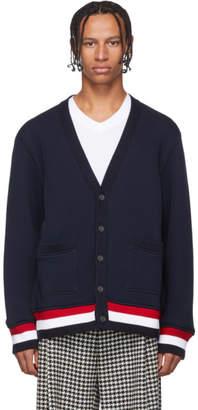 Thom Browne Navy Oversized Cardigan